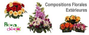 Composition de Fleurs Artificielles Extérieur Exclusives chez Flora Deco