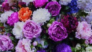 Fleurs Artificielles intemporelles, pivoines, roses, allium, hortensia, orchidées