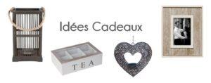 Photophore, boite à thé, cadre photo .... des idées cadeaux pour toutes les occasions chez Flora Déco