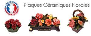 Flora Déco propose des Plaques Céramiques Florales pour rendre hommage à un proche