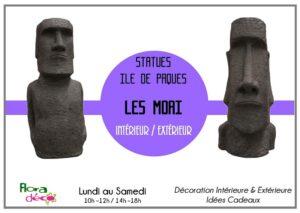 Statues Déco - Moai Ile de Paques - Intérieure et Extérieure