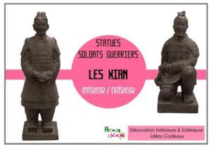 Statues des Soldats Xian pour l'intérieur ou l'extéreiur dans votre boutique Flora Déco