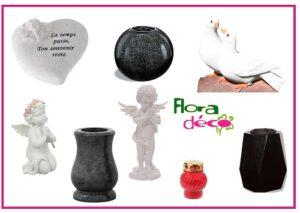 Vases funéraires et objets de décorations Flora Déco pour cimetière